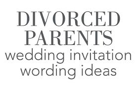 divorced parents wedding invitation. divorced parents wedding invitation wording d