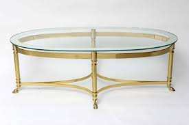 ... Coffee Table, Glamorous Golden And Clear Modern Steel Brass Coffee Table  With Glass Top Design ...