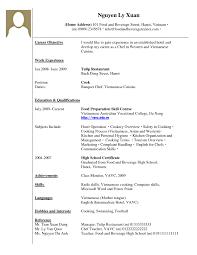 Resume Template Example Of Resume Work Experience Free Career