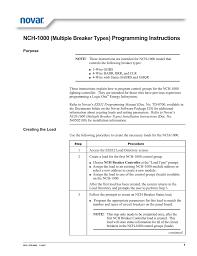 Novar Lighting Controls Nch 1000 Multiple Breaker Types