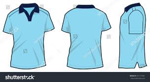 Blue Polo Shirt Design Light Blue Polo Shirt Design Vector Stock Vector Royalty