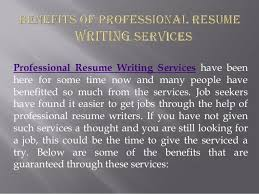Professional Resume Writing Service Classy Benefits Of Professional Resume Writing Services