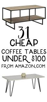 31 cheap coffee tables that cost under $100 from Amazon! | Cheap ...