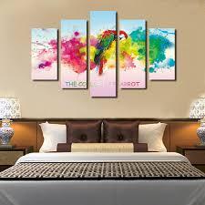 Modern Wall Paintings Living Room Online Get Cheap Parrot Wall Art Aliexpresscom Alibaba Group