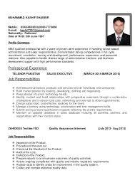 Sales Executive CV. MUHAMMAD KASHIF SHABBIR Mobile:  0345-6662630,0300-7773068 E-mail: ...