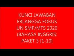 Jual erlangga xpress un smk bahasa inggris 2019 kota surabaya. Kunci Jawaban Erlangga Fokus Un Smp Mts Bahasa Inggris 2020 Paket 3 1 10 Youtube