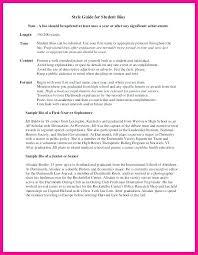 Short Bio Note Sample Goblueridge Co