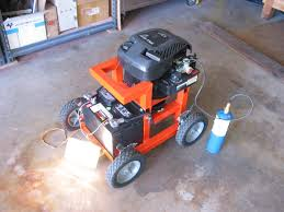 run off of propane no special fittings just stick the hose in the carb and fiddle with the gas flow until