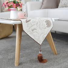 get quotations simple and modern luxury decorative flag flag coffee table cloth table runner embroidered flag end of