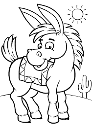 Small Picture Mexican Donkey Colouring Page Fun Colouring