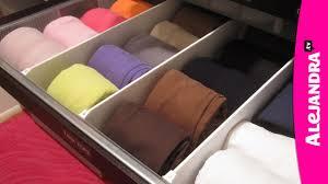 How to Organize Dresser Drawers & Fold Underwear, Bras, and Socks - YouTube