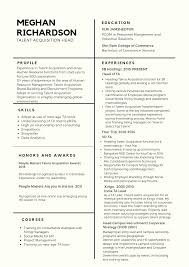 Article Infographic Perfect Resume Of A Talent Acquisition