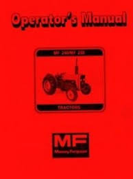 massey ferguson mf 240 mf240 mf 250 mf250 tractor owners operators image is loading massey ferguson mf 240 mf240 mf 250 mf250