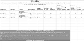 Wedding Invite Spreadsheet How To Make A Spreadsheet Budget