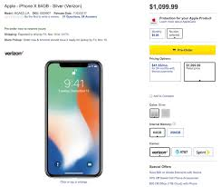 iphone x price. apple charges $999 or $1,149 for the iphone x with 64gb 256gb of storage in united states. best buy $1,099 $1,249 online and stores iphone price p