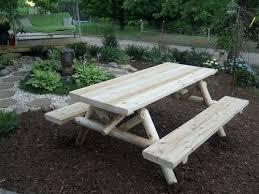 alternative views round cedar picnic table plans
