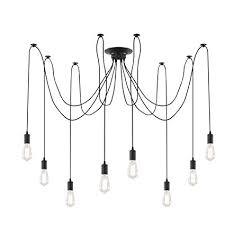 Pendant modern lighting Kitchen Island Image Unavailable Amazoncom Light Society Tentacle 10light Chandelier Swag Pendant Matte Black
