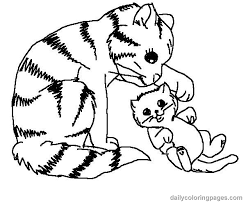 Cute Kitten Cat Coloring Page Get Coloring Pages