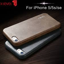 x level leather case for iphone 5 5s se original shockproof luxury business vintage back cover coque iphone 5 5s se in half wrapped case from cellphones