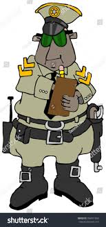 Illustration Ethnic Sheriff Writing Out Citation Stock Illustration