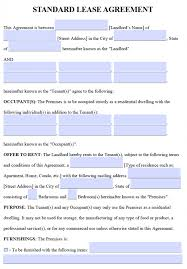 Texas Residential Lease Agreement Template   Trattorialeondoro