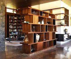 Asian Hall Bookcase Room Divider Open Floor Home Design Photos