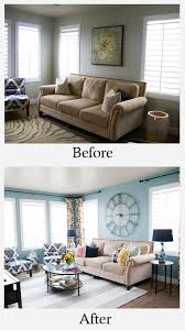 small space living room makeover before and after
