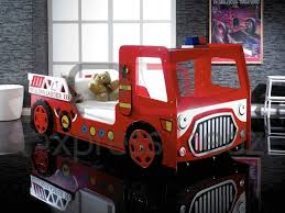 kids red fire engine bed with led lights for awesome house childrens car bed with mattress prepare