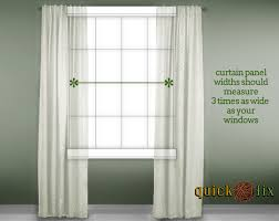 how to curtains panels for the right window size