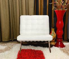 Tufted Living Room Set Mies Van Der Rohe Sofa Chair Button Tufted Leather Barcelona Style