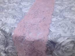 furniture runners. Pink Lace Runner On White Wedding Table Cover With Flower Pattern Ideas Furniture Runners E