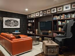 man cave with dark gray paint on the walls by benjamin moore
