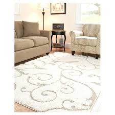 off white area rug. 33 X 53 Shag Area Rug In Beige Off White With Scrolling Floral .