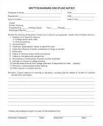 free employee warning forms written warning template free
