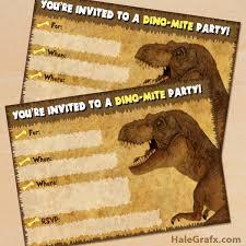 free dinosaur party invitations free printable dinosaur t rex party invitation