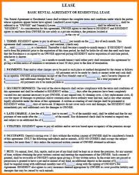 Basic Residential Lease Agreement Template - Fast.lunchrock.co