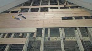 wood flooring nailed down over joists