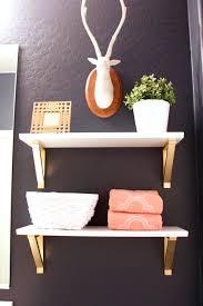 elegant gold wall shelves 8 rose hexagon shelf industrial