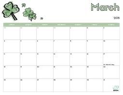 editable calendar march 2018 2018 free printable calendar for kids imom