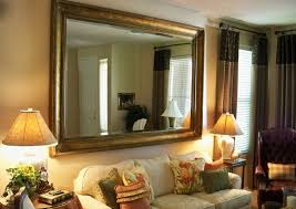 Wall Collage Living Room Living Room Living Room Mirror Wall With Square Silver Wall