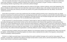 an essay on terrorism causes of terrorism essay homework academic writing service