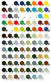 Tamiya Paint Chart Tamiya Acrylic Paint Pots 7 Series X Xf Charter Of Colours