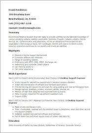 Desktop Support Resume Samples Desktop Support Specialist Resume