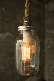 rope mason jar lights. Items Similar To Mason Jar Lighting Chandelier Shabby Chic Lamp Hanging Light - Vintage Industrial Rope Design On Etsy Lights