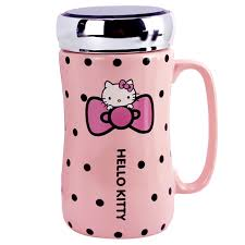 4.7 out of 5 stars 271. Cute Hello Kitty Ceramic Cup Mug With Mat And Spoon Water Bottles Mirror Lid Dinnerware Serveware Mugs
