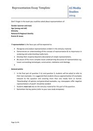 representation essay template by a ie teaching resources tes
