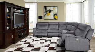 Parker House Parthenon 6 Piece Sectional in Titanium Urban