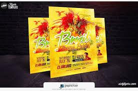 Flyers Theme Brazil Theme Party Flyer Template Brazil Theme Party Psd