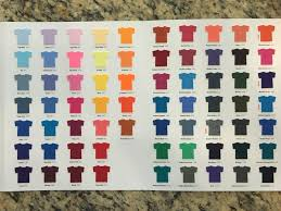 Gildan Shirt Colors Chart Free Gildan Color Swatch Set For Apparel Cutting For Business
