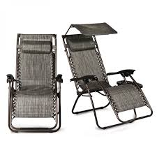 belleze 2 pack zero gravity chair w canopy top reclining lounge chairs outdoor patio